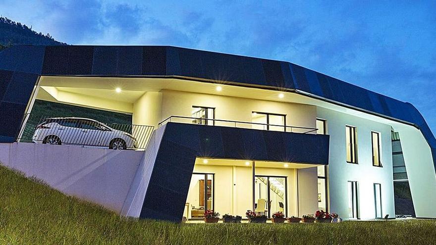 La casa del futuro ya está construida y su creador vive en ella