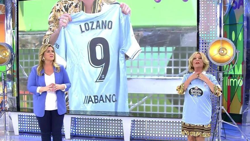 El Celta y Sálvame se reconcilian con una camiseta para Lydia Lozano