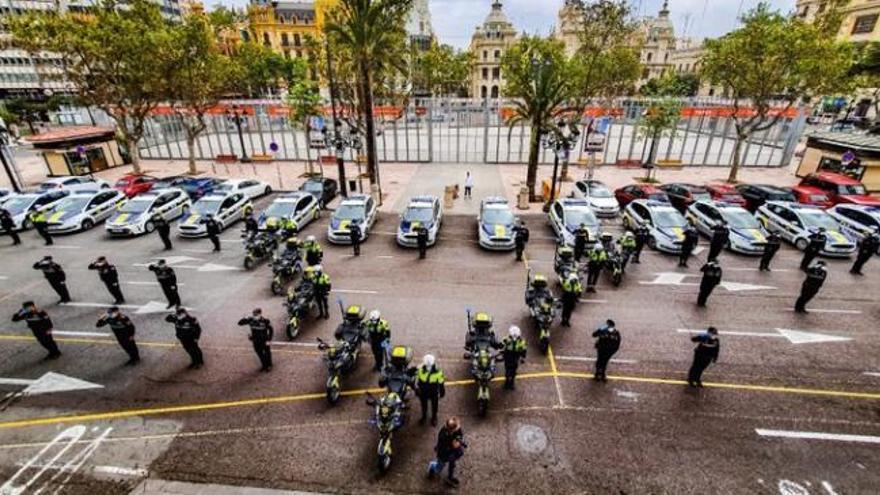 La Policía Local de València despide con honores al inspector Antonio Vega