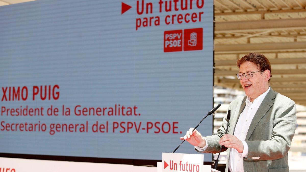 Ximo Puig, en el acto del PSOE en Alicante.