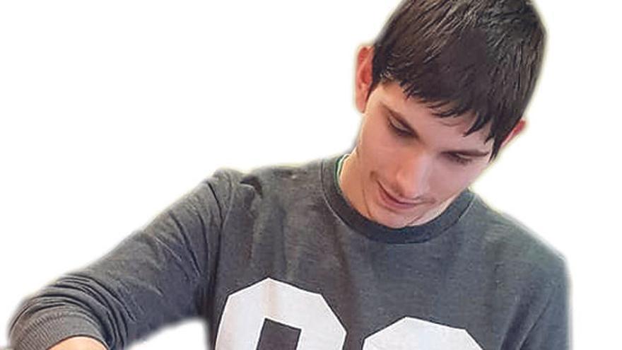 El joven Kevin Palacios