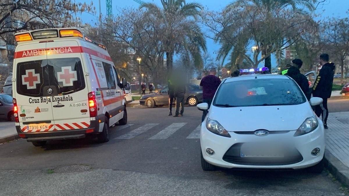 Una niña de 13 años resulta herida leve al ser atropellada en la ronda norte de Badajoz