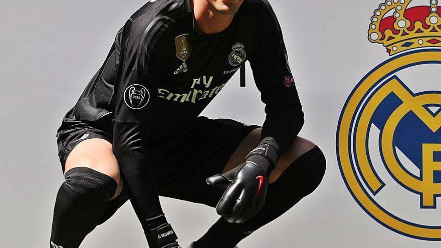 El porter del Madrid Courtois no trobaria bé declarar campió el FC Barcelona