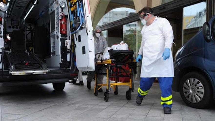 Un jugador del Fuenlabrada, hospitalizado en A Coruña