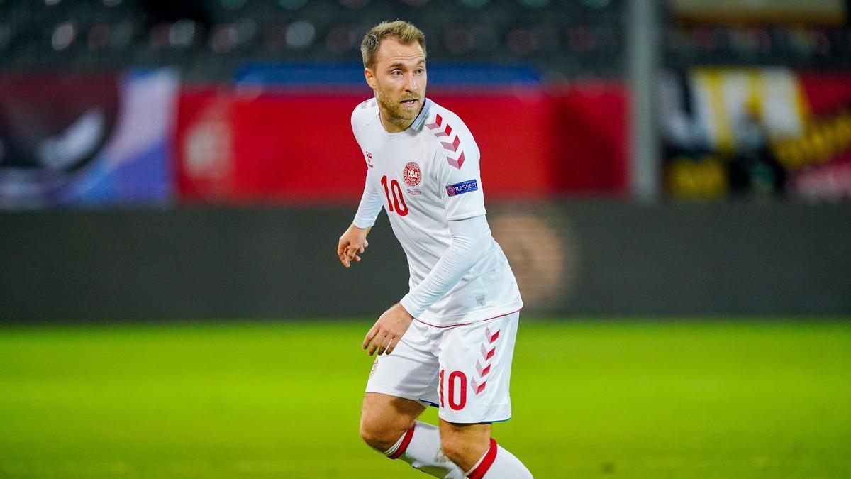 El jugador de Dinamarca, Christian Eriksen.