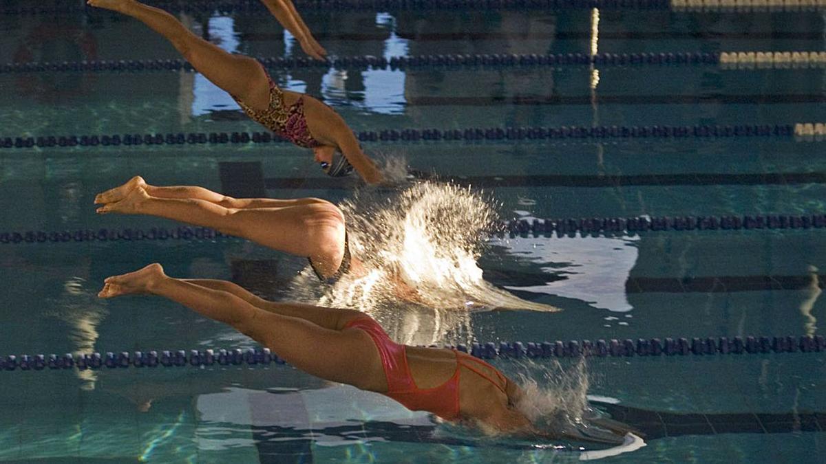 Nadadoras en El Quirinal. | R. S.