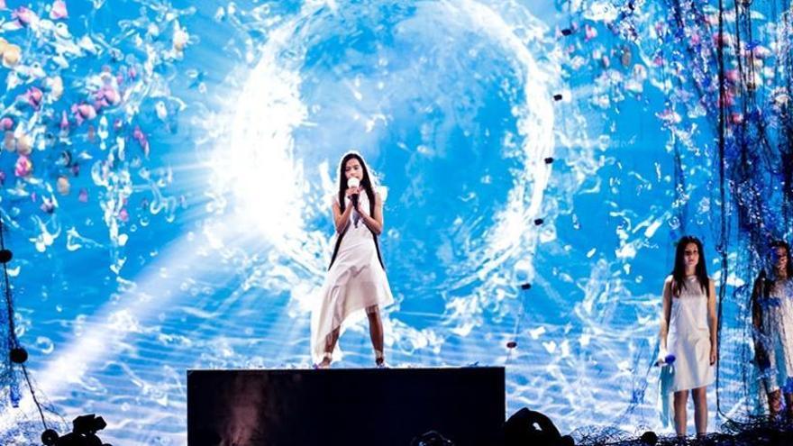 Melani, la valenciana que mañana puede ganar Eurovisión Junior