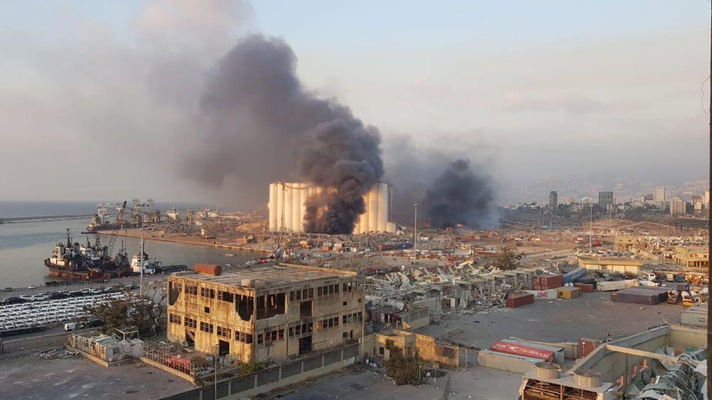 Large explosion in harbor area rocks Lebanon