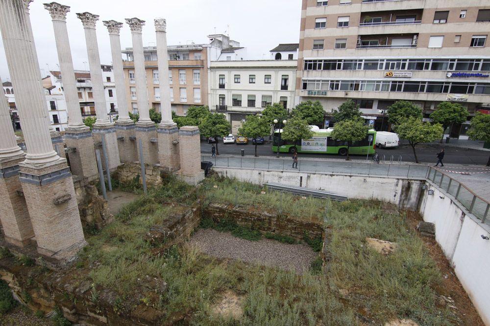 Estado de abandono del Templo Romano