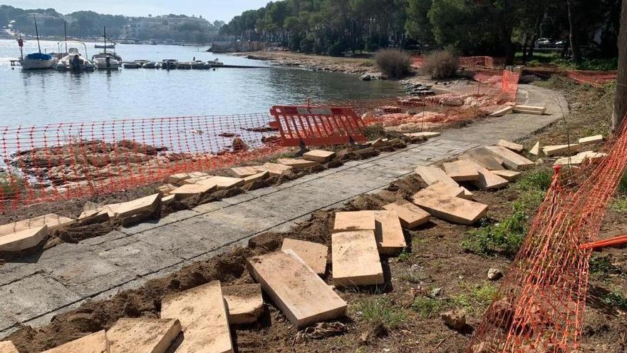 Unbekannte zerstören umstrittenen Küstenweg in Portocolom