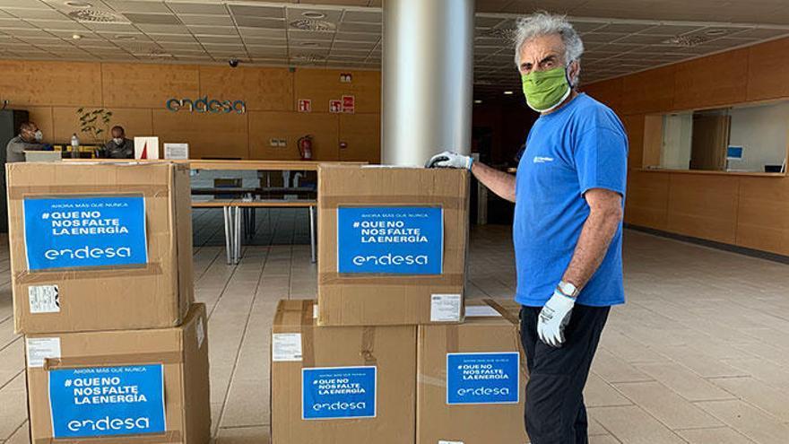 Endesa dona 35.000 màscares FFP2 als Consells Insulars, Ajuntament de Palma i diferents entitats i organismes