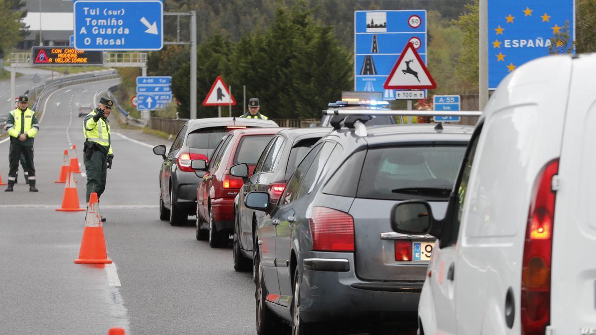 Controles entre la frontera entre Galicia y Portugal.