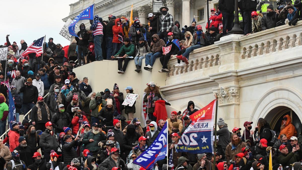 Una imagen del asalto al Capitolio, el pasado 6 de enero.