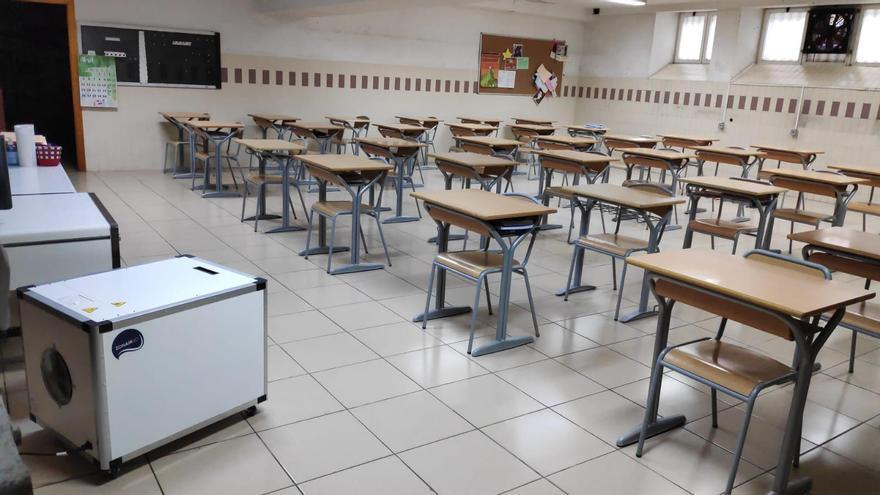 Finaliza la entrega de 4.000 purificadores de aire a los colegios para combatir la covid