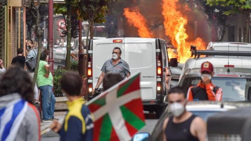 Cinco detenidos en una protesta contra un mitin de Vox en Barakaldo