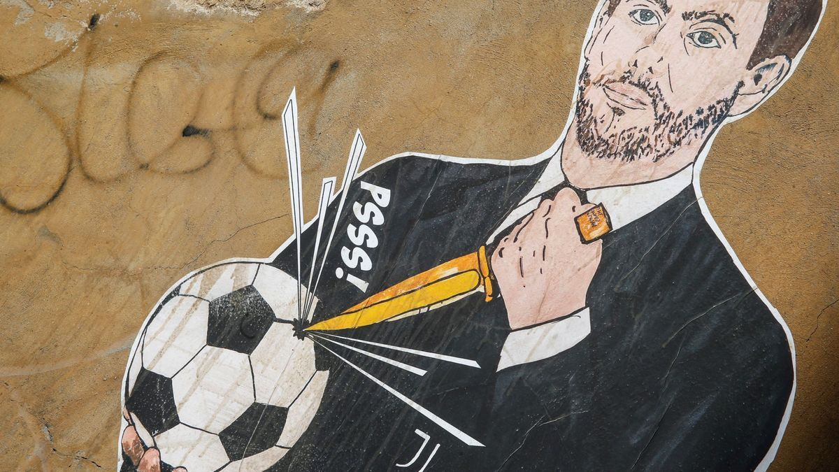 Painted against Agnelli, president of Juve and promoter of the Superliga.