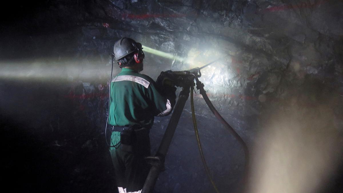 Imagen de archivo de un minero.