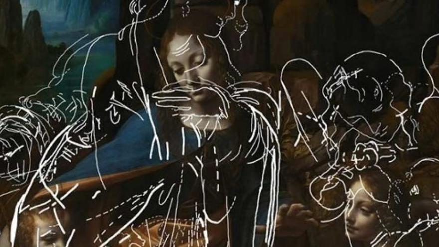 Un algoritmo desvela dibujos ocultos en una obra maestra de Da Vinci