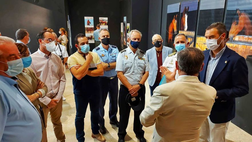 Una exposición ilustra en Caravaca la labor de las Fuerzas Armadas con la cría y doma de caballos