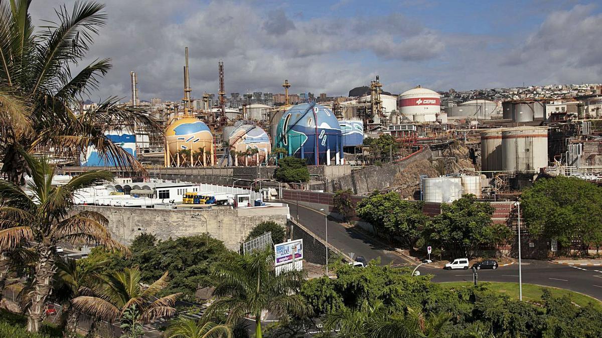 Instalaciones de la Refinería de Santa Cruz de Tenerife.