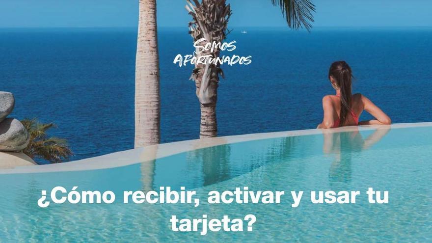 Los beneficiarios del bono turístico canario con tarjeta virtual pueden activarla desde este viernes