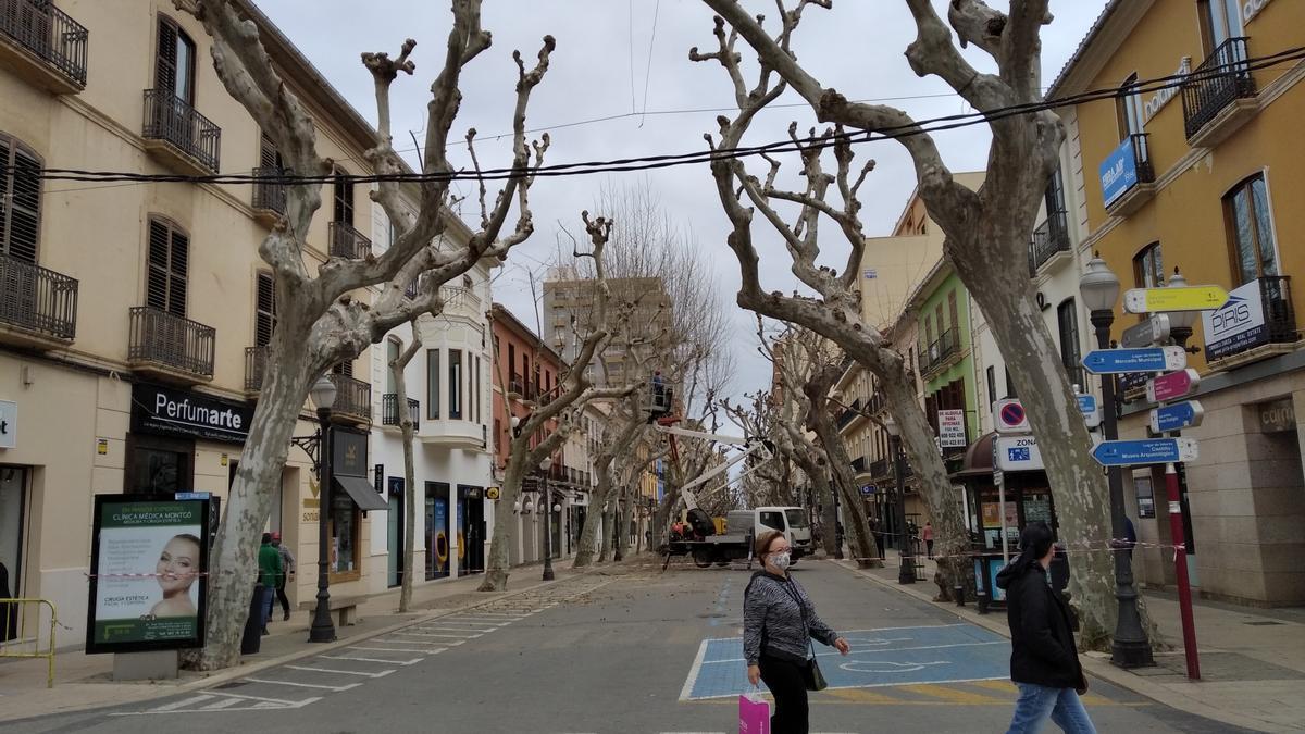 La calle Marqués de Campo de Dénia