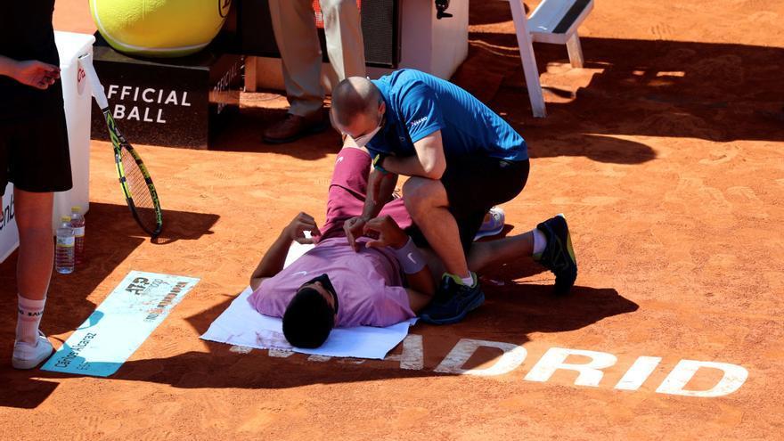 Una lesión deja a Carlos Alcaraz sin opciones ante Rafa Nadal