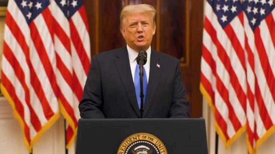 Trump se reivindica en su discurso de despedida antes de dejar la Casa Blanca