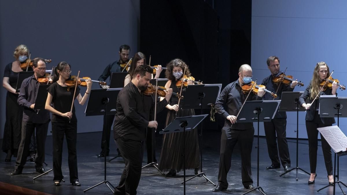 Músicos de la Orquestra de la Comunitat Valenciana, que actuará en julio en Enguera