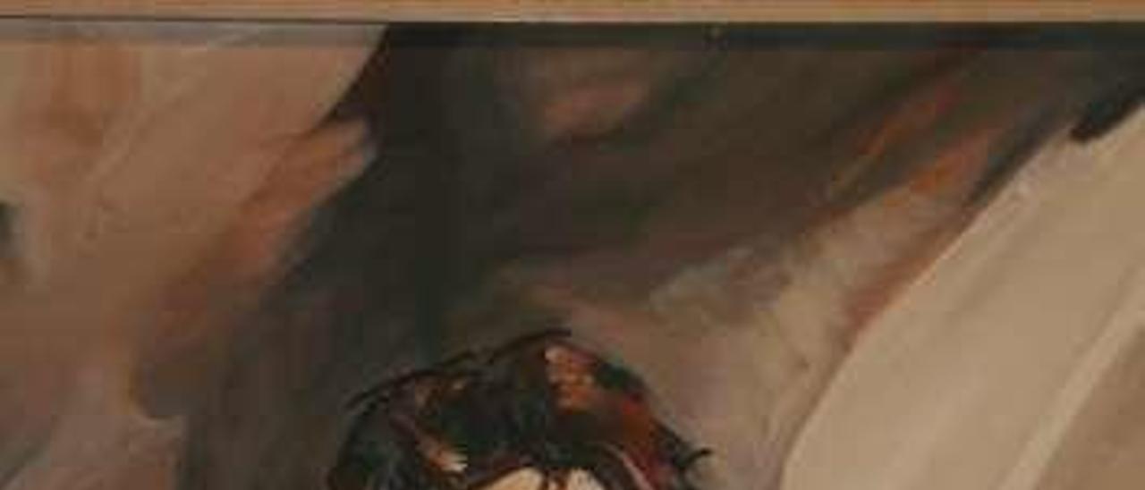 A la izquierda, Juan Cueto pintado por su gran amigo Jaime Herrero.