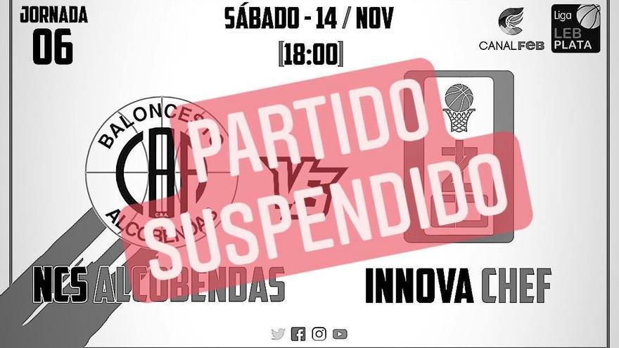 Suspendido el Alcobendas - CB Zamora Innova Chef