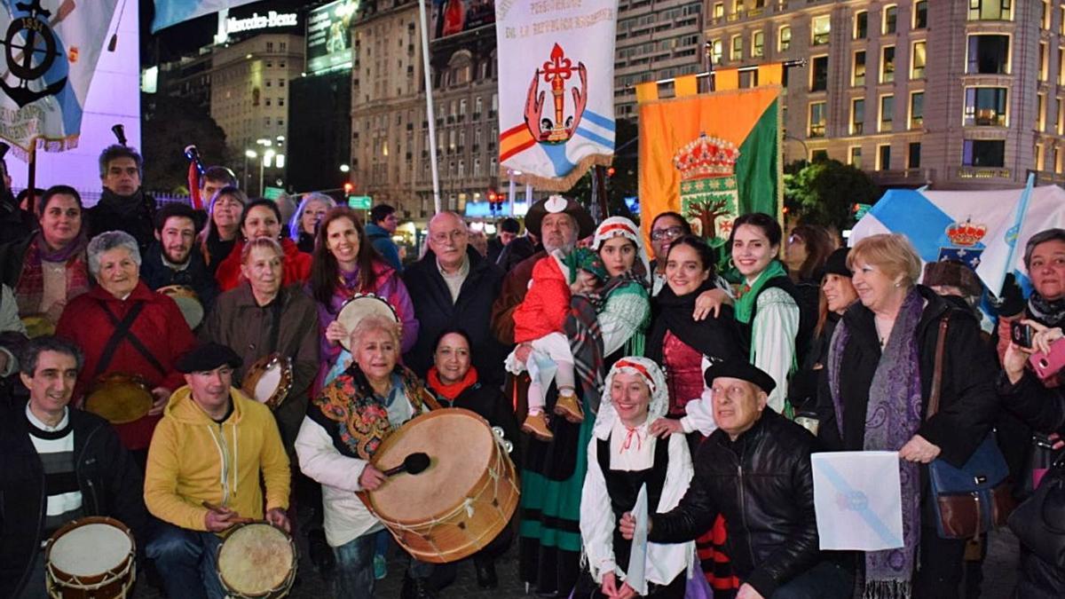 Conmemoración del día de Galicia en el Centro Gallego La Plata de Buenos Aires. |   // L. O.