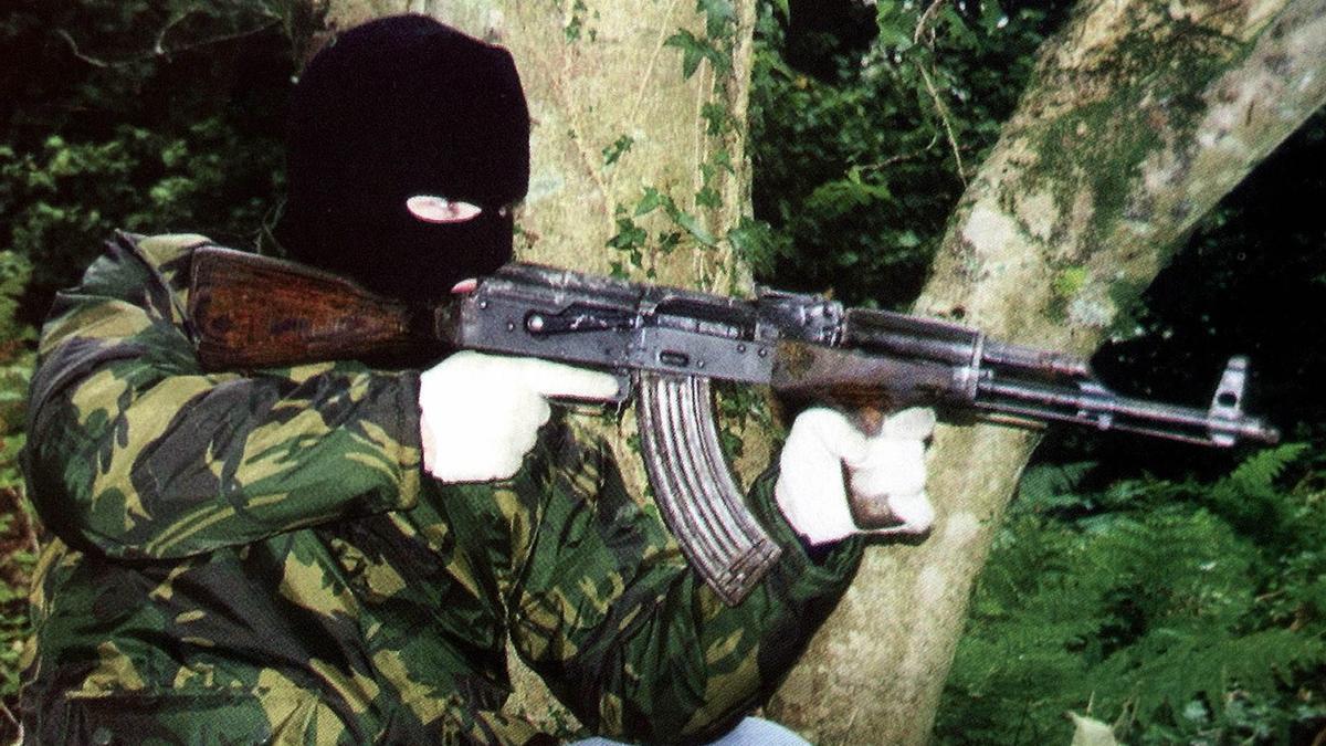 Un terrorista del IRA, en una imagen sin fecha.