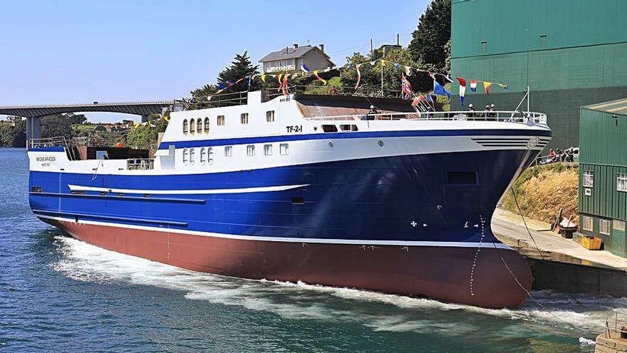 Astilleros Gondán bota un buque para un armador noruego