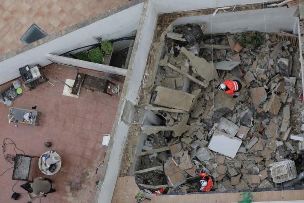 Derrumbe de una terraza en Palma