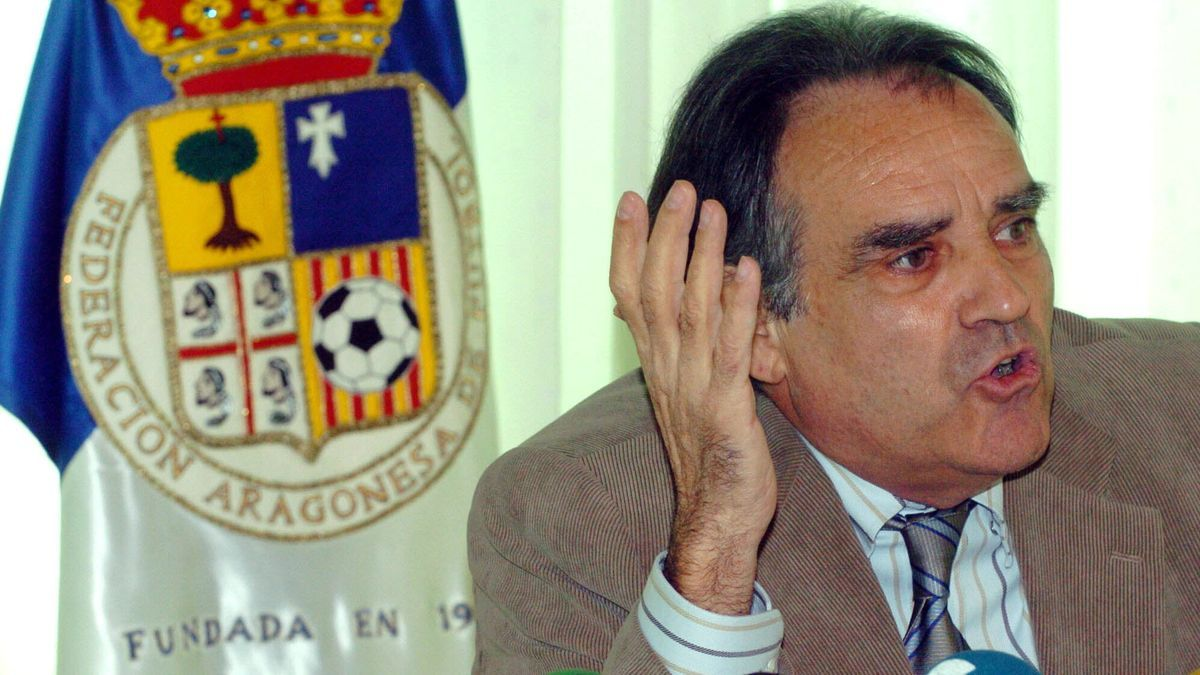 Oscar Fle, presidente de la Federación Aragonesa de Fútbol.
