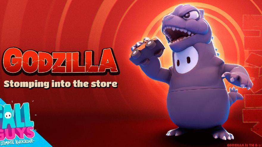 'Fall Guys: Ultimate Knockout' recibirá el aspecto de Godzilla durante tiempo limitado