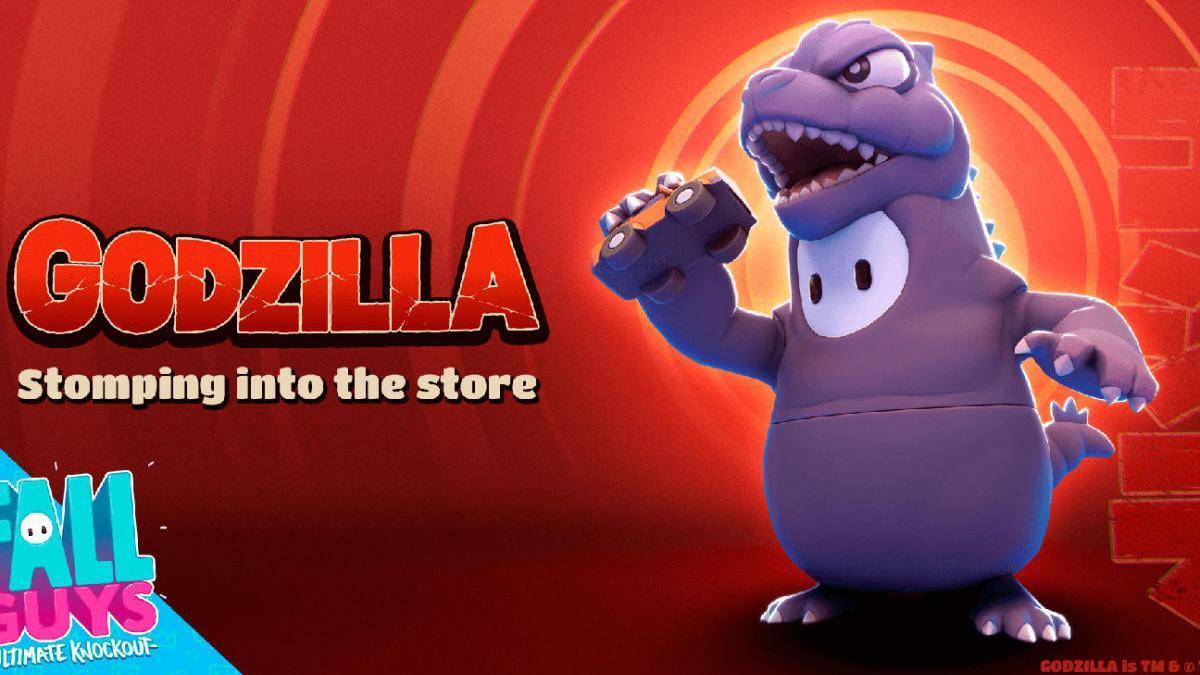 Godzilla se cuela en 'Fall Guys'.