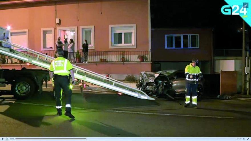 Mueren tres jóvenes en dos accidentes de circulación en Culleredo y Muros