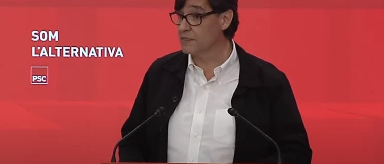 """Salvador Illa apoya los indultos porque """"Cataluña necesita hacer este salto hacia adelante"""""""