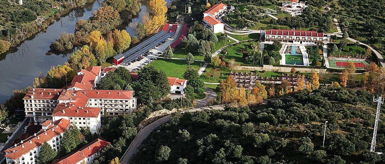 Las instalaciones del Balneario de Ledesma, en la provincia de Salamanca.