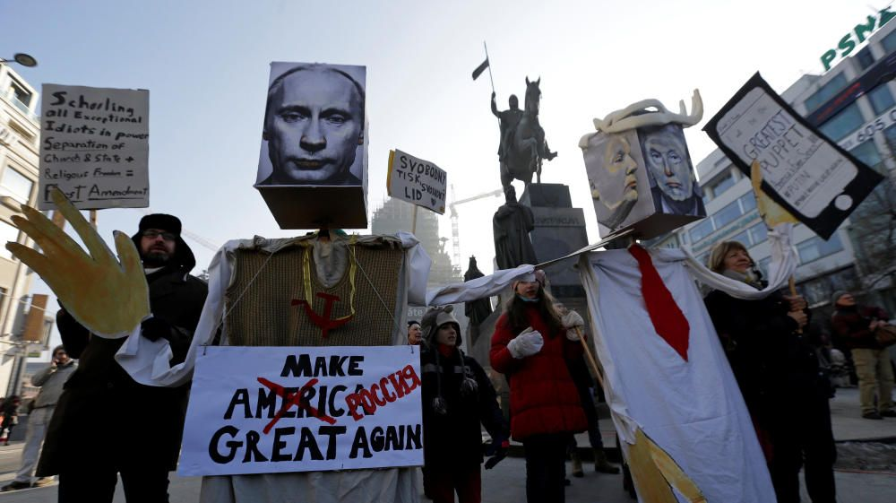 Protestas contra Trump en la República Checa