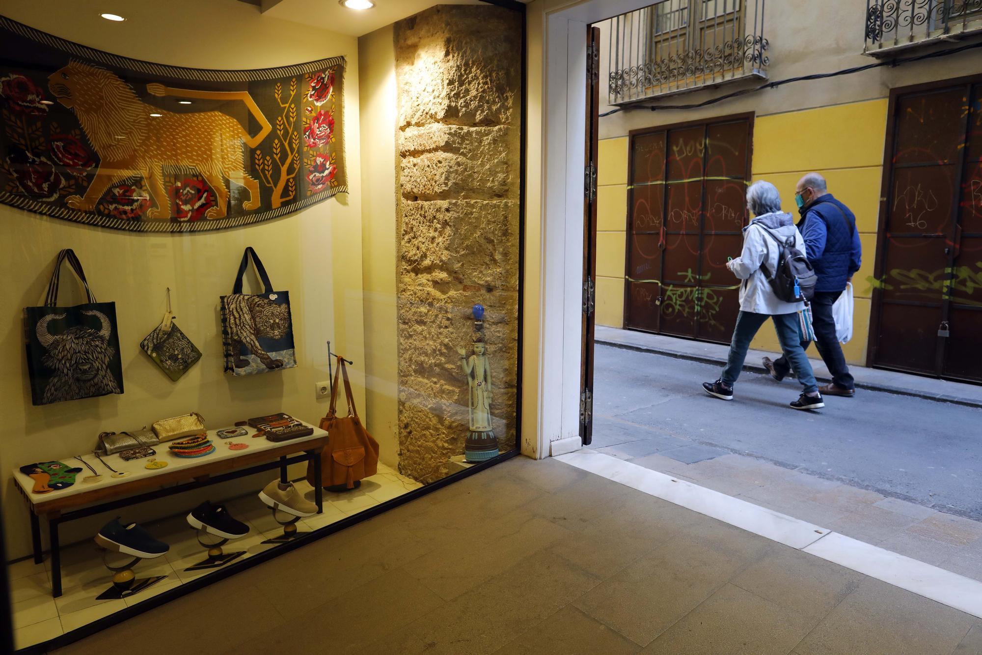 Obrados medieval en la calle Danzas