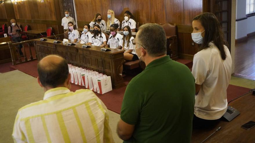 El Recoletas Zamora es recibido en la Diputación