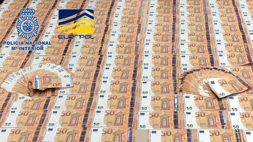 La Policía desmantela una organización que distribuía billetes falsos de 50 euros