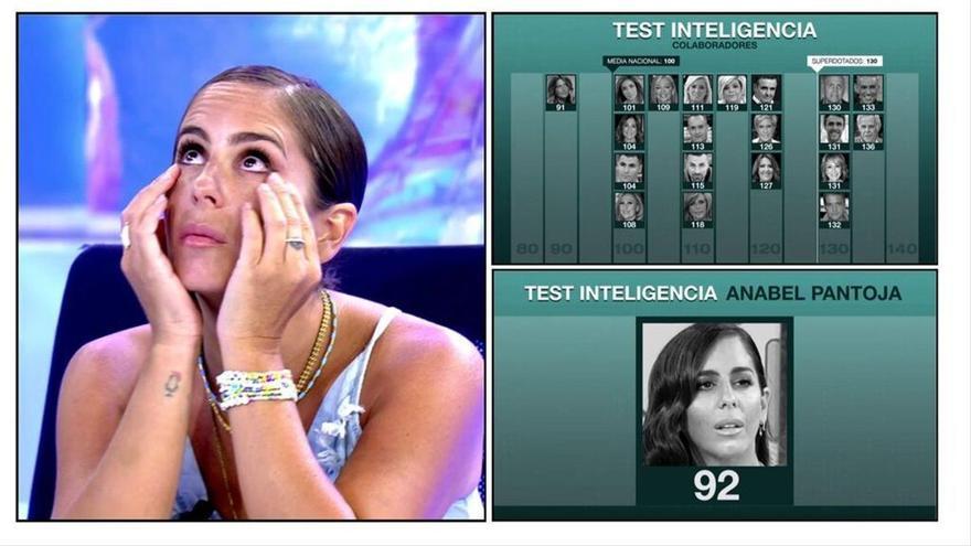 """Anabel Pantoja, decepcionada con el resultado de su test de inteligencia: """"La analfabeta de Mediaset"""""""