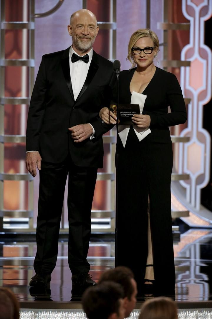 Simmons and Arquette present at the 73rd Golden Globe Awards in Beverly Hills