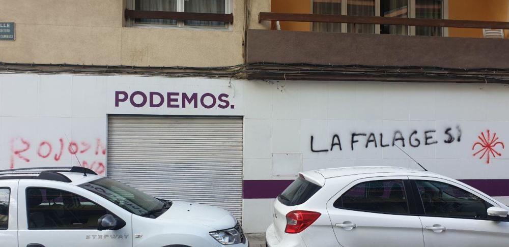 El local de Unidas Podemos