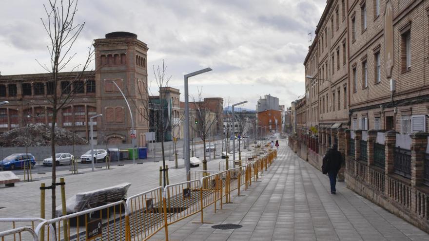 La nova Via de Sant Ignasi s'acaba del tot després d'un any i mig d'obres