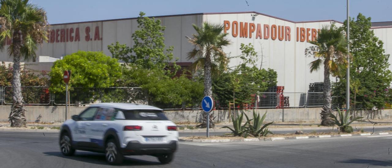 La fachada de las instalaciones de Pompadour Ibérica.
